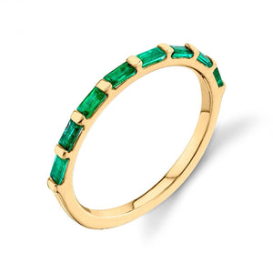 yellow gold, emerald