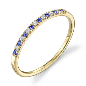 yellow gold, blue sapphire, white diamond