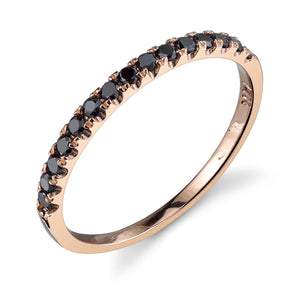 rose gold, black diamond