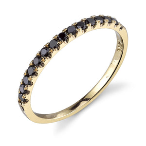 yellow gold, black diamond