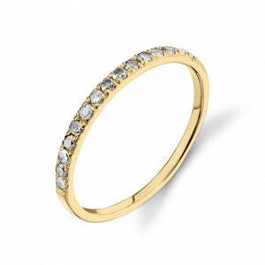 gray diamond, yellow gold