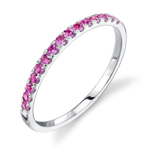 pink sapphire, white gold