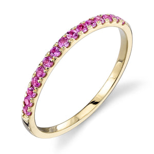 pink sapphire, yellow gold