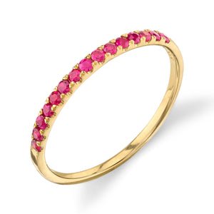 Ruby, yellow gold
