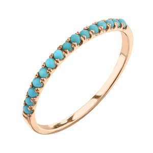 turquoise, rose gold