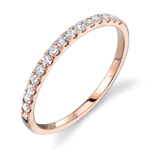 rose gold, white diamond