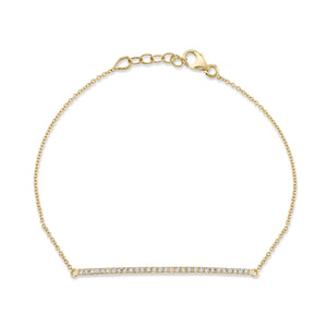 COLETTE LONG PAVÉ BAR BRACELET