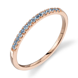 aquamarine, rose gold