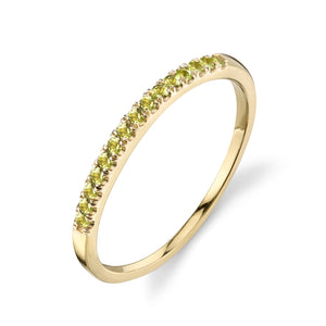 Colette Thin Pavé Band Peridot / 14K Yellow Gold