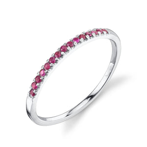 ruby, white gold