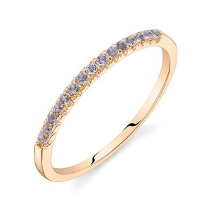 Colette Thin Pavé Band Tanzanite / 14K Rose Gold