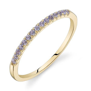 Colette Thin Pavé Band Tanzanite / 14K Yellow Gold
