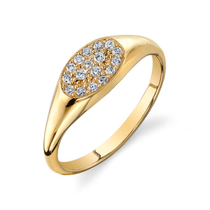 Diamond Pavé Signet Ring
