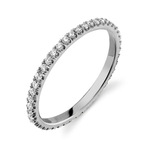 Colette Thin Full Pavé Band White Diamond / 14K Gold 6
