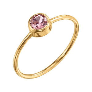 Large Olive Ring Topaz / 14K Yellow Gold