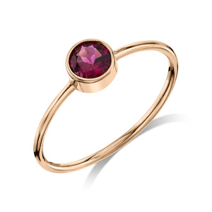 Large Olive Ring Tourmaline / 14K Rose Gold