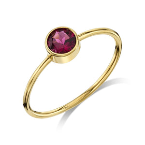 Large Olive Ring Tourmaline / 14K Yellow Gold