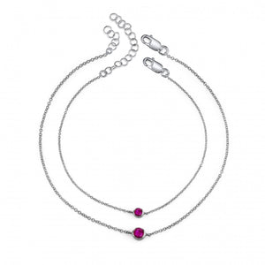 white gold, ruby