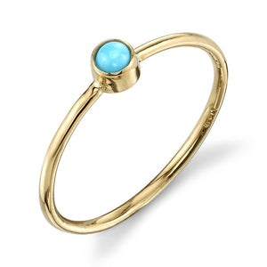 Olive Bezel Ring Turquoise / Yellow Gold