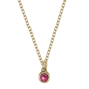 pink tourmaline, yellow gold