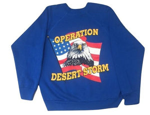Adults S Operation Desert Storm Crewneck Jersey