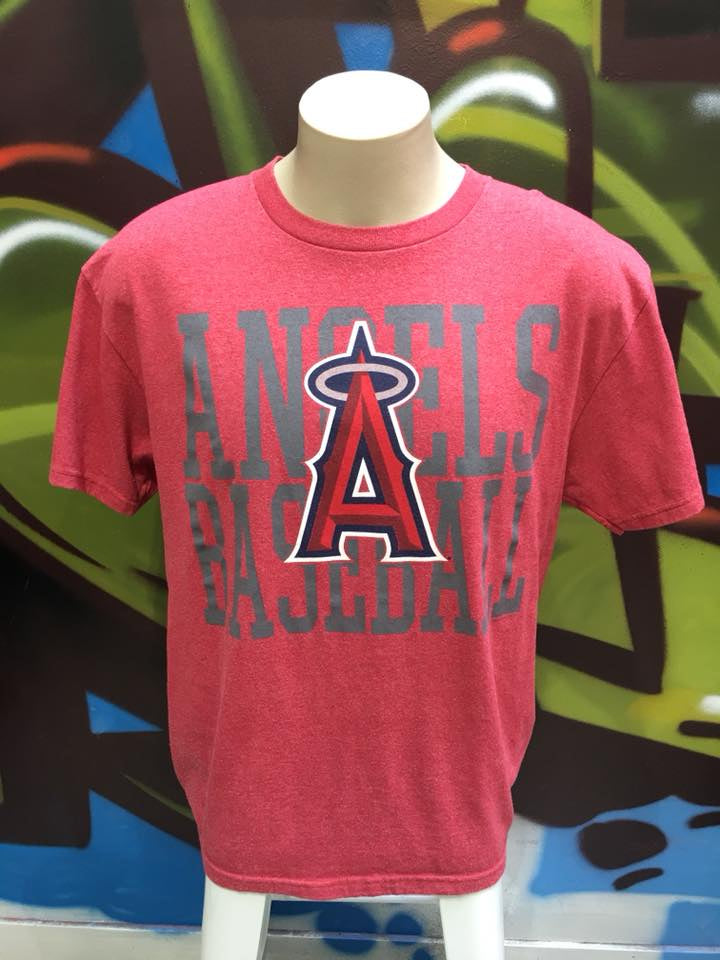 Adults L Angels Baseball Graphic Printed T - Shirt