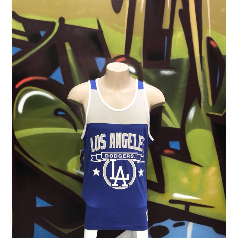 Adults L BNWT Mitchell & Ness Los Angeles Dodgers Colour Block Tank Top