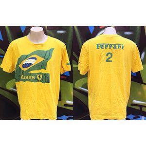 Adults XL Puma Ferrari Scuderia Massa Brazil  T-Shirt