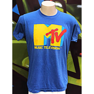 "Adults XL MTV ""Music Television"" T - Shirt"