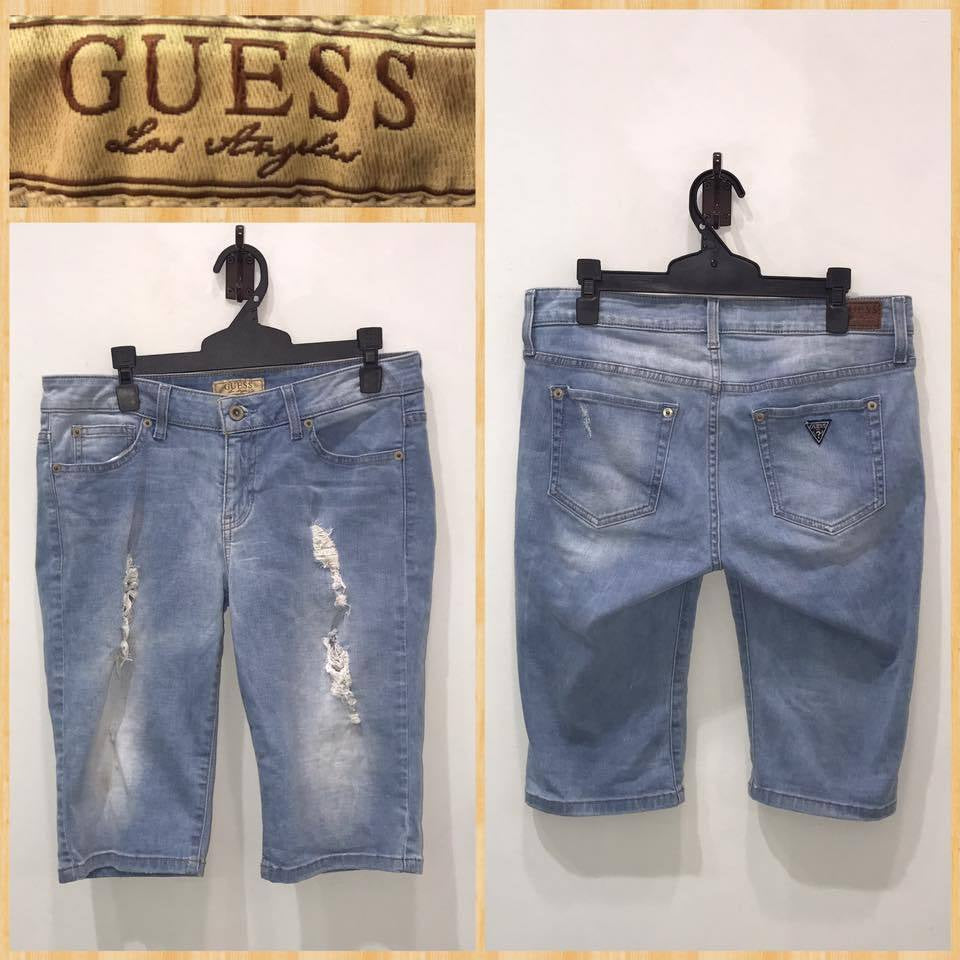 Adults S(Fits Womens 11) Guess Ripped Denim Jeans