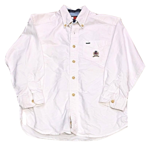 Kids Size 6 Tommy Hilfiger Lion Crest Button Up Shirt