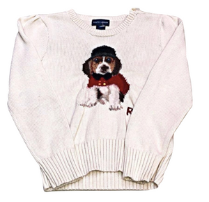 Kids Size 6 Ralph Lauren Cotton Holiday Dog Sweater