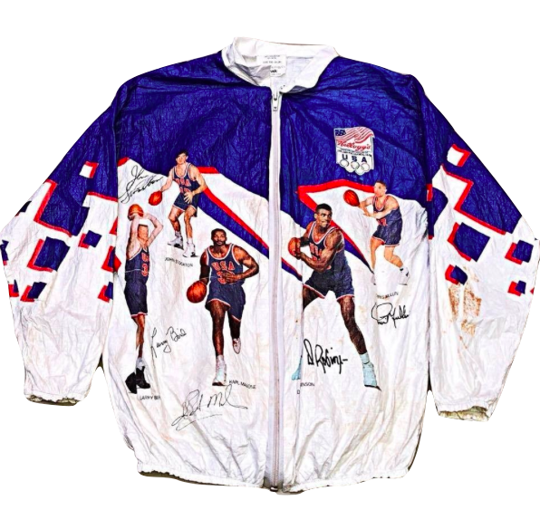 Kids Size 6 Vintage Kellogg's 1992 USA Dream Team Tyvek Olympics Jacket