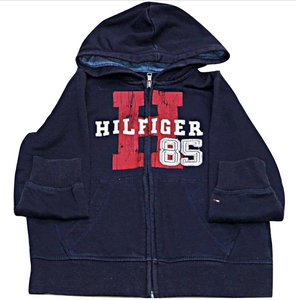 "Kids Size 5 Tommy Hilfiger ""Hilfiger 85"" Zip - Up Sweatshirt"