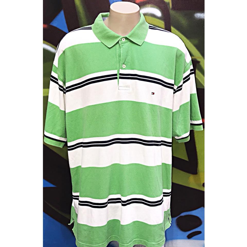 Adults 4XL  Tommy Hilfiger Striped Polo Shirt