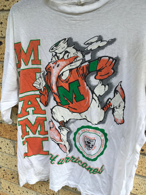 Vtg 90's Men's Sz XL Miami Hurricanes tee 🔥