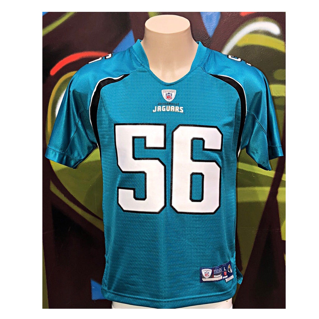 Youth L Reebok Jacksonville Jaguars #56 Justin Durant Football Jersey