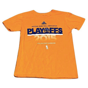 Youth S Adidas 2015 Playoffs Golden State Warriors T - Shirt