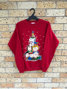 Vtg Women's Sz L, fit Sz 10 max, Peanuts sweater $60 🔥