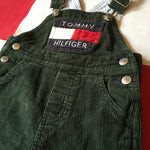 Vtg Sz 6-12mo GREEN Tommy Hilfiger Corduroy overalls 😍