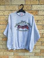 Vtg 90s Men's Sz XL Logo Athletic Atlanta Braves spring training crewneck $90 🔥