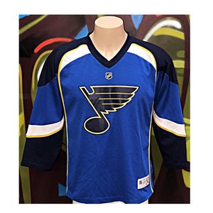 Youth L/XL Reebok NHL St Louis Blues Hockey Jersey