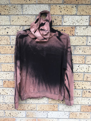 Men's Sz M distressed hoodie