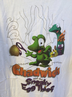Vtg Men's Sz XL Chadwick and the Sneaky Egg Thief tee 🔥