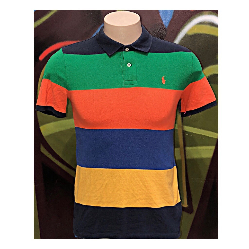 Youth L Polo Ralph Lauren Block Stripe Polo Shirt
