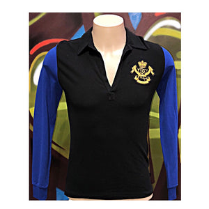 Youth L Ralph Lauren Crest Crown  Royal Club MCMLXVII Long Sleeve Shirt