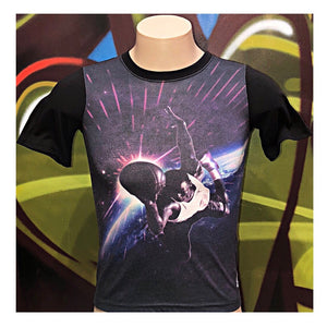 Youth M Air Jordan Dunking Over The Galaxy T-Shirt