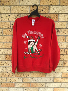 Men's Sz L 2004 'Be Naughty, Save Santa the trip' sweater 🔥