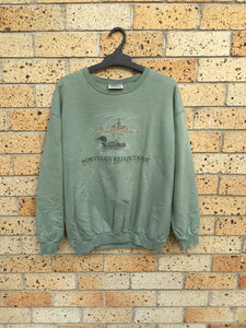 Vtg Men's Sz L Olive Northern Reflections crewneck 🔥