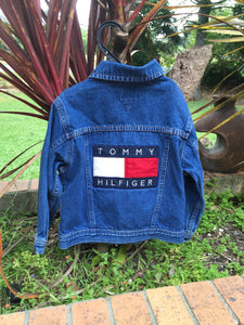 Toddler Sz 3 big flag denim Tommy jacket 😍
